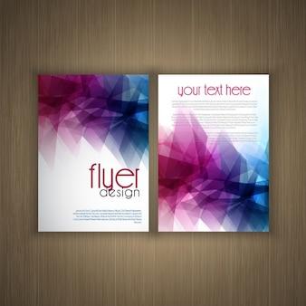 Abstract flier design