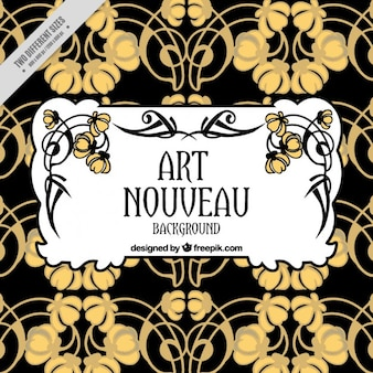 Abstract floral background in art nouveau style