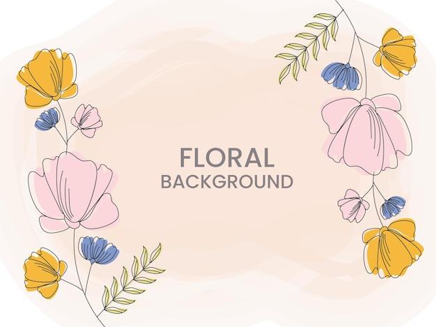 抽象的な花の背景は、ポスターのデザインとして使用できます。