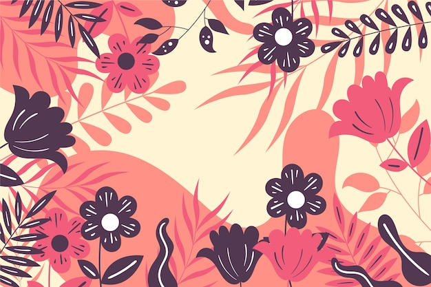 Abstract floral background flat design