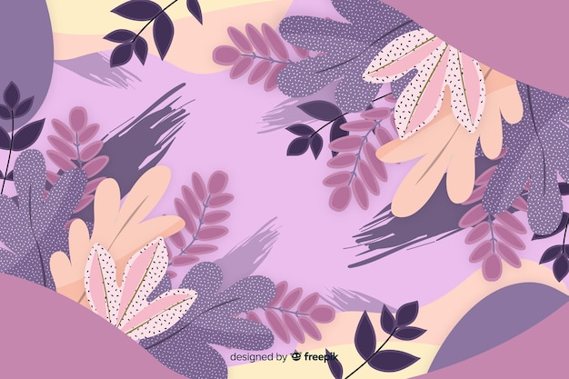 Abstract floral background hand drawn design