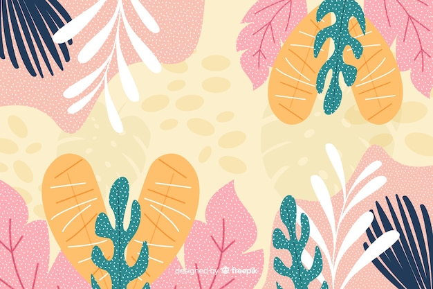 Abstract floral background hand drawn