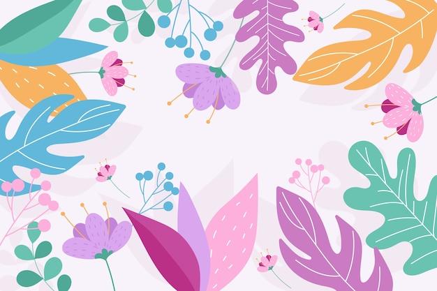 평면 디자인에 추상 꽃 배경