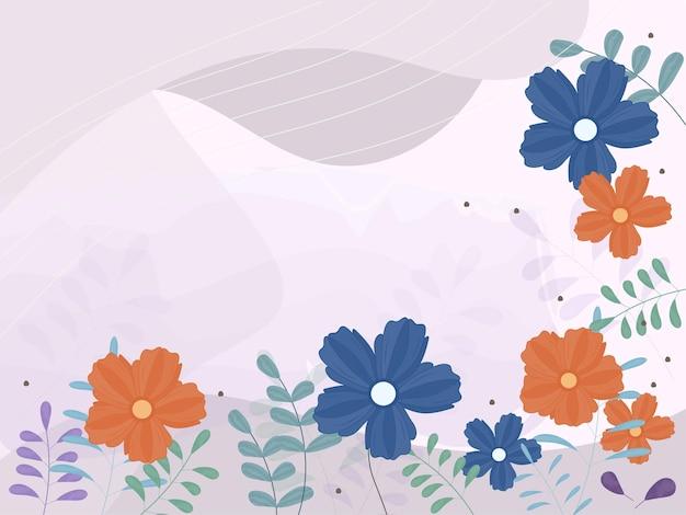 コピースペースと抽象的な花の背景。