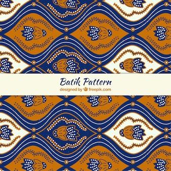Abstract floral batik pattern