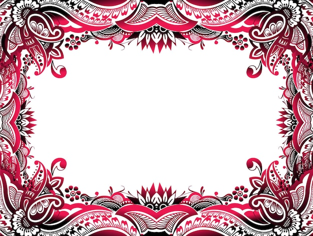 Abstract floral border background easy to edit of your project, vector illustration