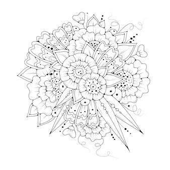 抽象的な花のぬりえ