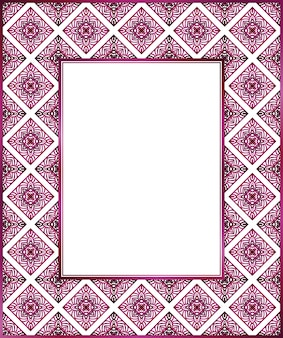 Abstract floral decorative seamless pattern frame