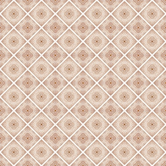 Abstract floral decorative seamless pattern