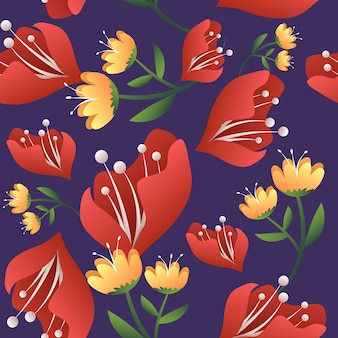 Abstract floral flower background