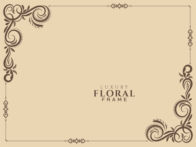 Abstract floral frame vintage background vector