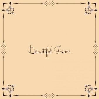 Abstract floral frame vintage background