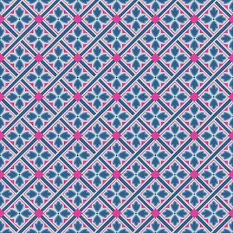 Abstract floral geometric pattern design print.