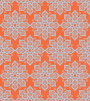 Abstract floral geometric pattern.