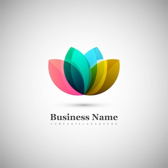 Abstract floral logo design