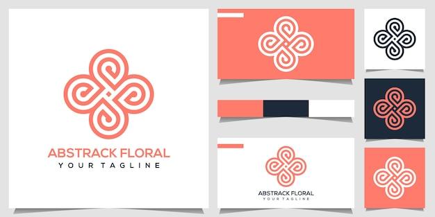 Абстрактный цветочный логотип