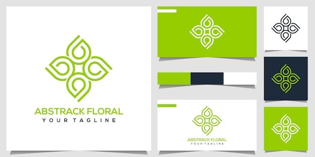 Абстрактный цветочный логотип Premium векторы