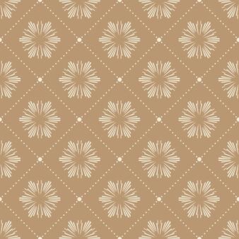 Абстрактный цветочный узор для фона летом или весной. креативная и ретро-иллюстрация стиля