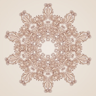 Abstract floral pattern in pastel rose pink colors