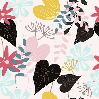 Abstract floral  pattern seamless background