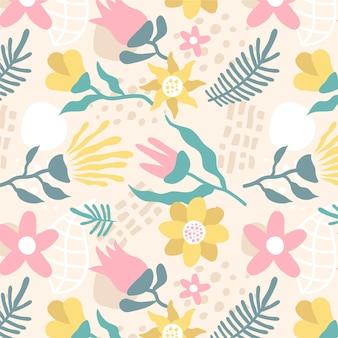 추상 꽃 패턴