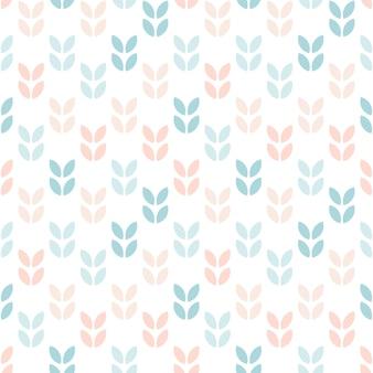 スカンジナビアスタイルの抽象的な花のシームレスなパターン
