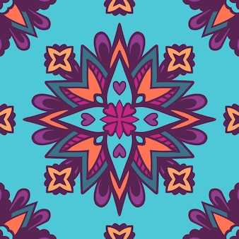 추상 꽃 원활한 패턴 장식입니다.