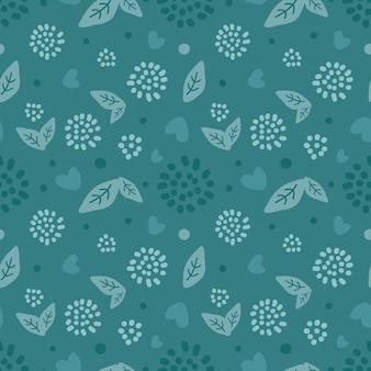 抽象的な花のシームレスなパターン。