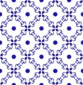 Abstract floral seamless tile pattern
