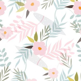 抽象的な花の表面パターンのシームレスな背景