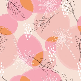 Abstract floral surface seamless pattern