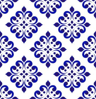 抽象的な花のタイルパターン