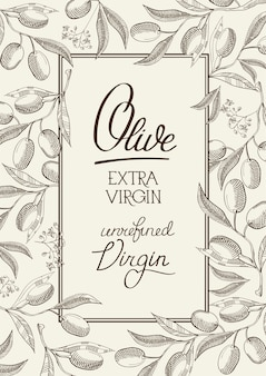 Abstract floral vintage label