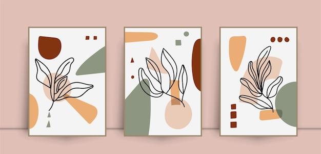 Коллекция абстрактных цветочных настенных принтов