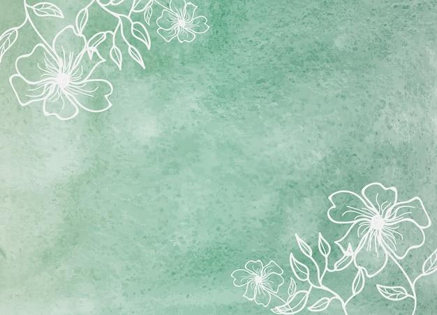 Абстрактная цветочная акварель затенение кисти фоновой текстуры