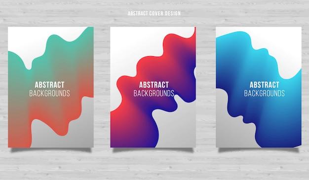 Abstract flow vertical background design set