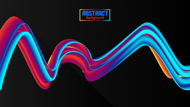 Abstract flow wavy background with gradation