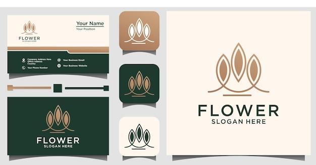 Абстрактный цветок красоты логотип универсальный творческий символ. изящный ювелирный бутик векторный знак
