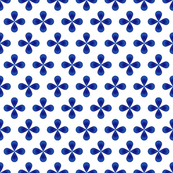 Abstract flower blue pattern