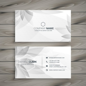Abstract flower business card