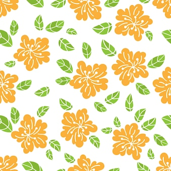 Abstract flower fabric seamless pattern