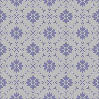 Abstract flower geometric pattern print