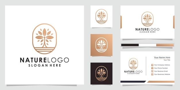 Абстрактный цветочный лист логотип цветочный логотип и дизайн визитной карточки
