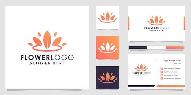 Абстрактный цветочный дизайн логотипа цветочный логотип и дизайн визитной карточки