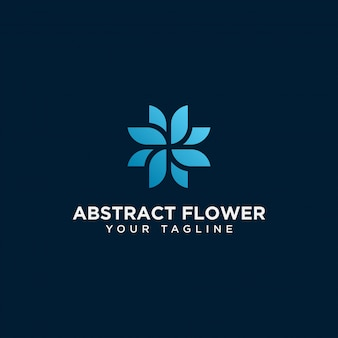 Abstract flower logo design template