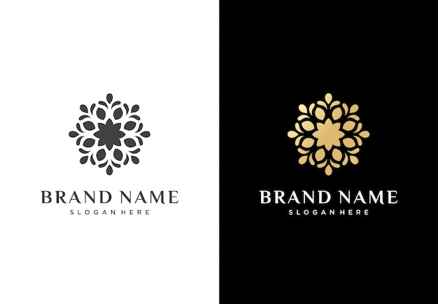 Abstract flower logo design