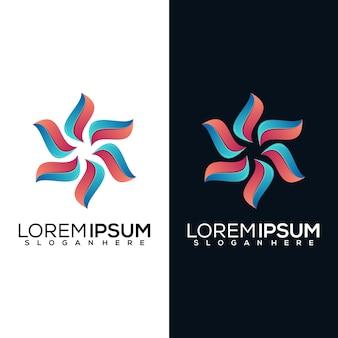 Абстрактный цветочный дизайн логотипа