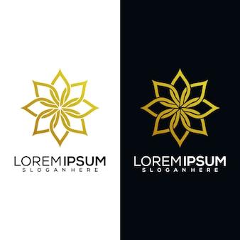 Абстрактная цветочная иллюстрация логотипа