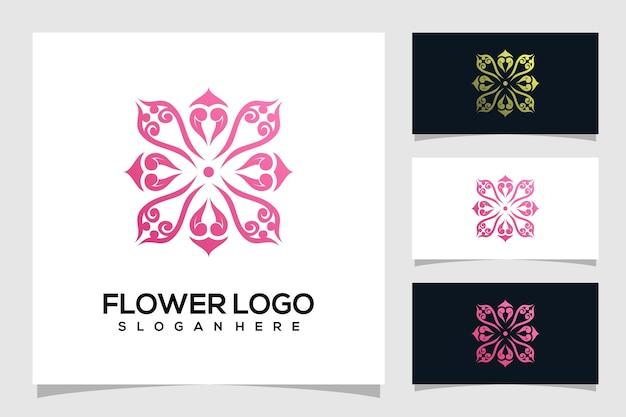 Абстрактный цветок логотип иллюстрации