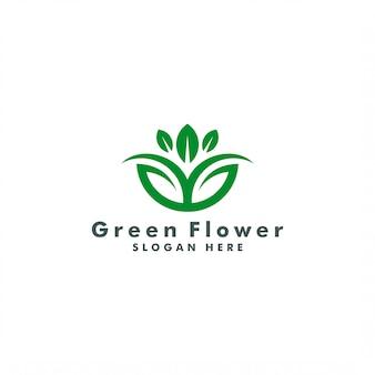 抽象的な花のロゴのテンプレート。自然ロゴタイプのデザイン